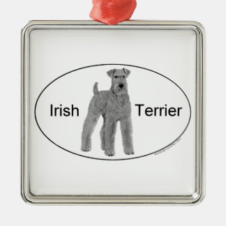 Irish Terrier Euro Style Metal Ornament