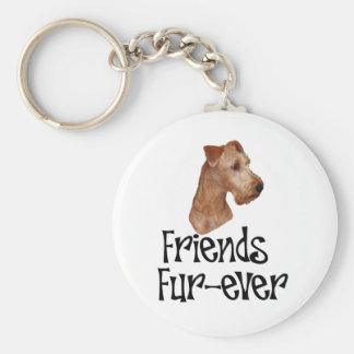 """Irish Terrier """"Friends Fur-ever"""" Keychain"""