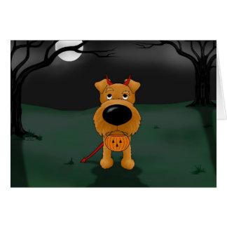 Irish Terrier Halloween Greeting Card