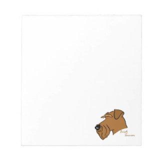 Irish Terrier head silhouette Notepad