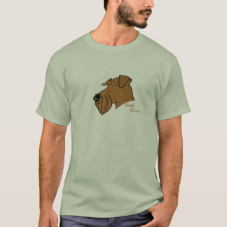 Irish Terrier head silhouette T-Shirt