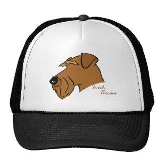 Irish Terrier head silhouette Trucker Hat