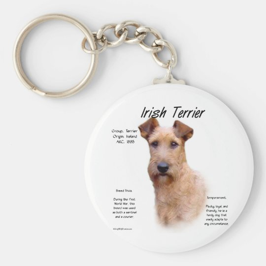 Irish Terrier History Design Keychain