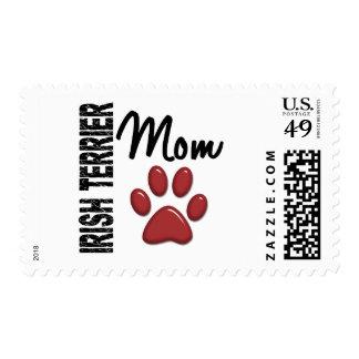 Irish Terrier Mom 2 Postage Stamp
