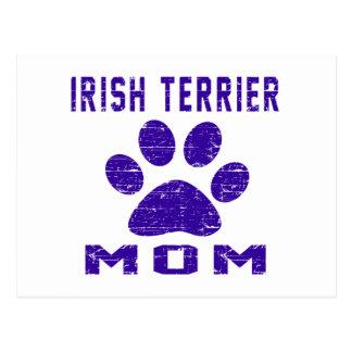 Irish Terrier Mom Gifts Designs Postcard