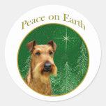 Irish Terrier Peace Round Sticker