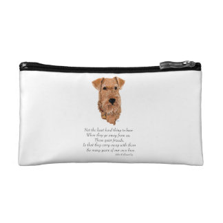 Irish Terrier Rainbow Bridge Cosmetic Bags