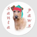 Irish Terrier Santa Paws Sticker