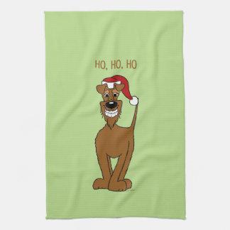 Irish Terrier Santa Towel