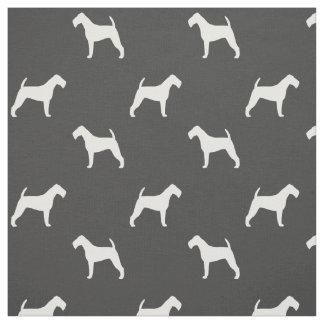 Irish Terrier Silhouettes Pattern Fabric