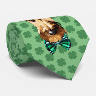Irish Terrier St. Patrick's Day Tie