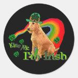 Irish Terrier St. Patricks Round Stickers