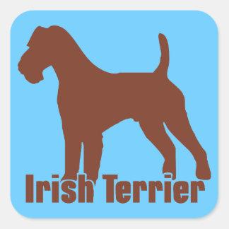 Irish Terrier Square Stickers