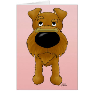 Irish Terrier Valentine Greeting Card