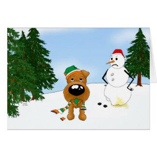 Irish Terrier Winter Scene Cards