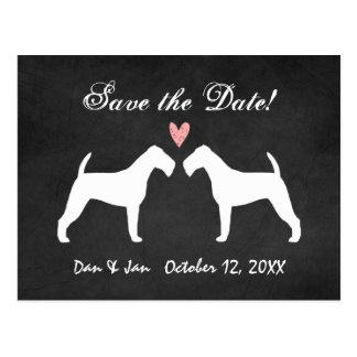 Irish Terriers Wedding Save the Date Postcard