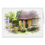 Irish Thatched Cottage Card