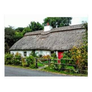 Irish Thatched cottage postcard