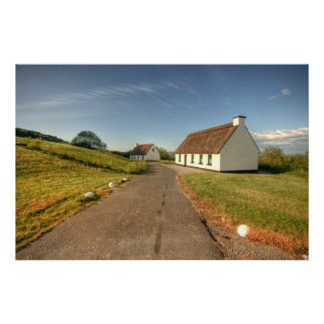 Irish Thatched Cottages Poster