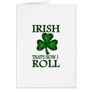 Irish That's How I roll Cards