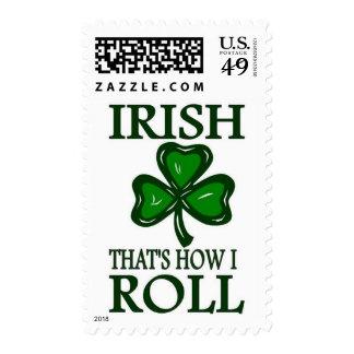 Irish That's How I roll Postage Stamp