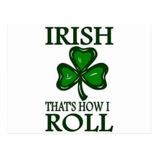 Irish That's How I roll Postcards