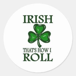 Irish That's How I roll Stickers