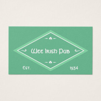 Irish Theme Business Card