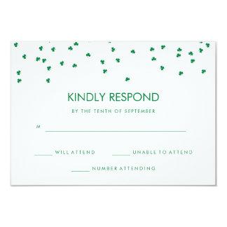 Irish Theme Shamrock Confetti   Wedding Response Card