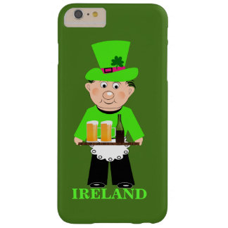 Irish Themed Funny Beer Waiter Novelty Barely There iPhone 6 Plus Case
