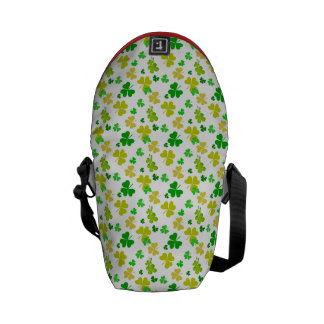 irish three leaves clover pattern courier bag