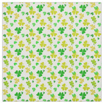 irish three leaves clover pattern fabric