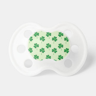 irish three leaves clover pattern pacifier