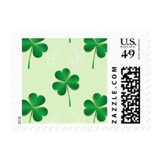 irish three leaves clover pattern postage