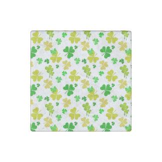 irish three leaves clover pattern stone magnet