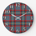 Irish Time Accents Clan MacNamara Tartan Large Clock