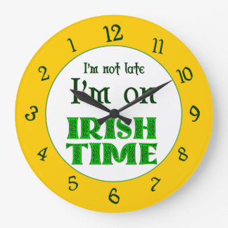 Irish Time Backwards Numbers Clock