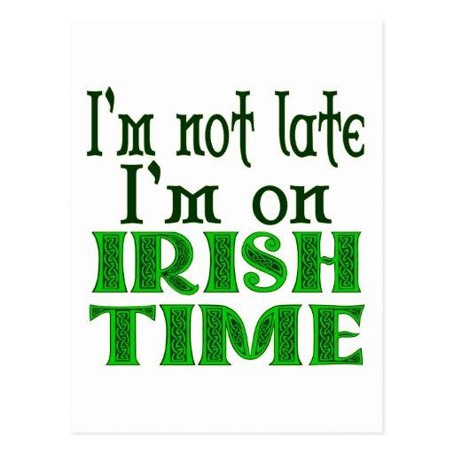 Irish Time Funny Saying Post Cards