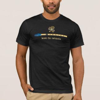 Irish Tin Whistle - blue fipple T-Shirt