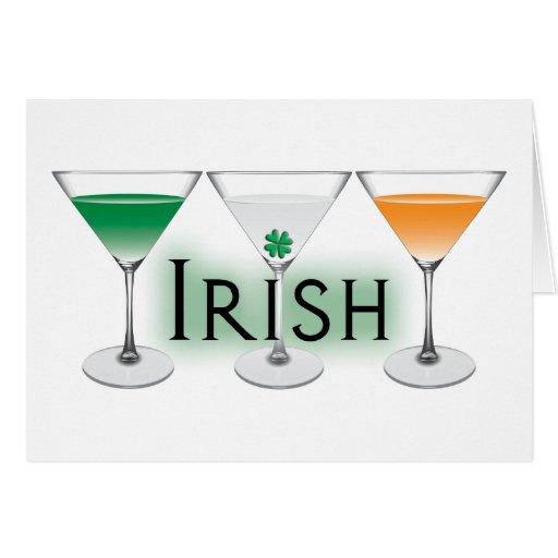 Irish Tini Greeting Cards