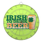 Irish to DRINK BEER! from The Beer Shop Dart Board
