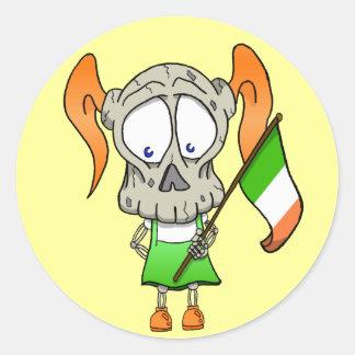 Irish to the Bone Classic Round Sticker