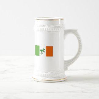 Irish Toast/Irish Flag+Leprechaun Beer Stein