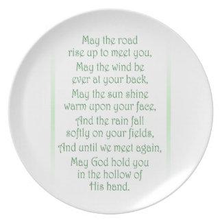 Irish Toast Plate