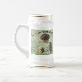Irish Toast to Wives and Girlfriends Stein