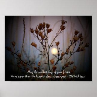 Irish Toast with Full Moon through Sage Poster