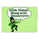 Irish Today Hung-over Tomorrow Cards