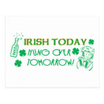 Irish Today Hungover Tomorrow Postcard