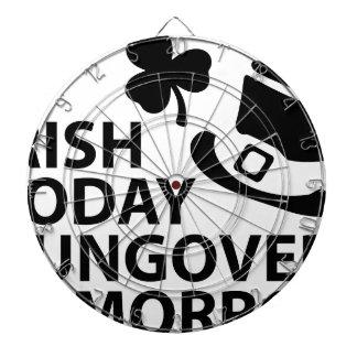 irish today hungover tomorrow st. patrick´s day dartboard