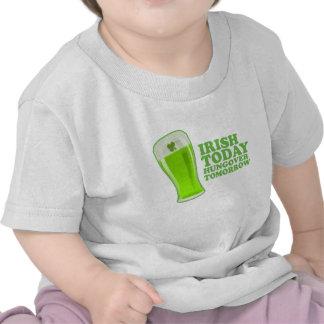 Irish Today Hungover Tomorrow St Patricks Day Tshirts